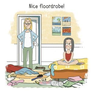 MTC21 - Nice Floordrobe Funny Teenager Card